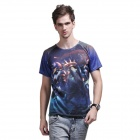 XING LONG 005 3D Animation Game Short-Sleeves T Shirts for Men -Multicolored (Size-XL)