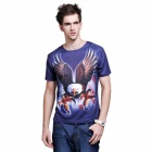 XING LONG 3D Flying Eagle Pattern Men's Short-Sleeves T-Shirt - Multicolored (Size-XL)