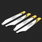 W04 Replacement Glass Fiber R/C Aircraft Propeller - White + Yellow (4 PCS)