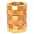 Bamboo Round Chopstick Holder  - Wood + Brown