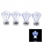 YUYU White LED Submersible Diamond Shape Decoration Light - White (4PCS)