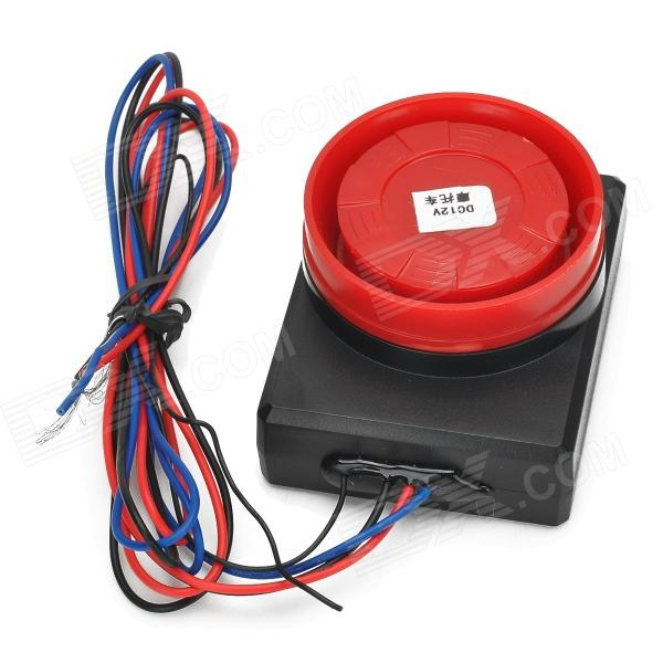 Motorcycle Anti-Theft Vibration Detection Sensor Alarm Device w/ Remote Controller - Red + Black