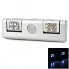 8-LED Indoor 3-Mode White Light Cabinet Induction Light - Silver (3 x AA)