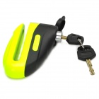 501 Anti-Theft Motorcycle Lengthened Disc Lock - Fluorescent Green + Black
