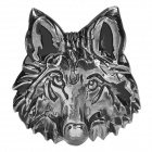 Unique Wolf Head Style Zinc Alloy Car Decorative Sticker - Silver