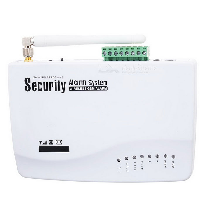 DaYing DY-10A Wireless GSM Intelligent Anti-Theft Digital Alarm System - White (Russian Language)