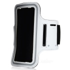 Trendy Outdoor Sports Arm Band for HTC One M7 - Black + White