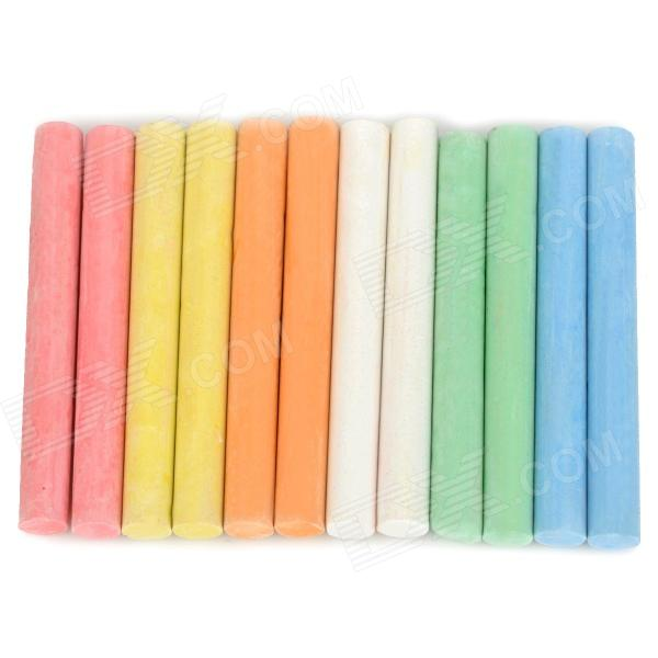 Education Painting Writing 12-in-1 Six Color Chalks assorted colors tagboard 12 x 9 blue canary green orange pink 100 pack