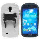 Creative Slipper Style Protective Silicone Back Case for Samsung Galaxy S4 i9500 - Black + White