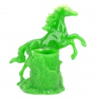 H2SF Retro Galloping Stallion Shaped Resin Pen Holder Container - Green