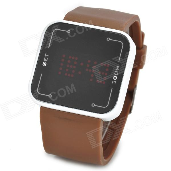 Rectangle Shaped LED Touch Screen Digital Wrist Watch