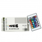 60W SMD 5050 RGB LED Music Controller w/ Remote Control - Grey + Black + White (DC 12~24V)