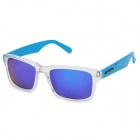 CARSHIRO 66108 UV400 Protection Grey Plating Blue REVO Polarized Resin Lens Sunglasses