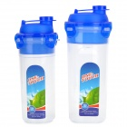 H2SF TN2008 Portable PP Water Bottles Set - Transparent + Blue (470mL + 690mL)