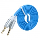 3.5mm Male to Male Audio Connection Cable - Blue + Black