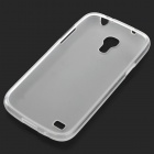 Protective Frosted TPU Back Case for Samsung Galaxy S4 Mini i9190 - Translucent White