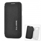 KALAIDENG Protective PU Leather + PC Case for Samsung Galaxy S4 Mini i9190 - Black + White