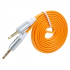 3.5mm Male to Male Audio Connection Cable - Orange + Black