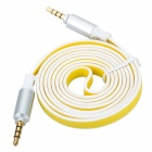3.5mm Male to Male Audio Connection Cable - Yellow + Black