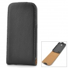 Protective Sheepskin Top-Flip Case for Samsung Galaxy S4 Mini i9190 - Black