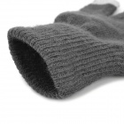 Skull Pattern Keep Warm 3-Finger Touch Gloves - Deep Grey + White (Pair)