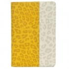 Leopard Style Protective PU Leather + Plastic Case for Ipad MINI - Yellow + Beige