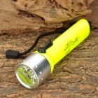 LZZ-02T 3W LED 100lm White Diving Flashlight w/ Strap - Yellow + Silver (4 x AA)
