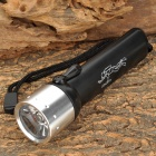 LZZ-02T 3W LED 100lm White Diving Flashlight w/ Strap - Black + Silver (4 x AA)