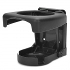 Multi-Functional Folding Car Hanging Drink Holder - Black