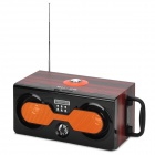 SU2B Portable Handheld Outdoor 2.1-CH Music Speaker w/ SD Slot / USB / FM / 3.5mm - Orange + Black