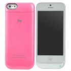 DIWEINUO D5-CII External 2200mAh Power Battery Charger Back Case for iPhone 5 - Pink + White