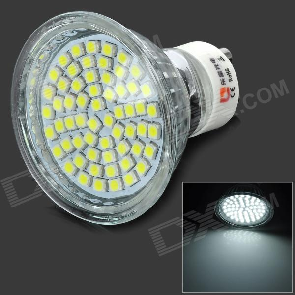 Lexing Lighting LX-011+C GU10 3W 150lm 7000K 60-SMD 3528 LED White Spotlight Bulb - Silver lexing lx r7s 2 5w 410lm 7000k 12 5730 smd white light project lamp beige silver ac 85 265v