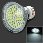 Lexing Lighting LX-011+C GU10 3W 150lm 7000K 60-SMD 3528 LED White Spotlight Bulb - Silver