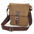 MLF006 Fashion Canvas Shoulder Bag for Men - Coffee