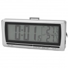 "T08 4.8"" LCD Car Digital Thermometer w/ Alarm Clock - Silver + Black (1 x CR2032)"