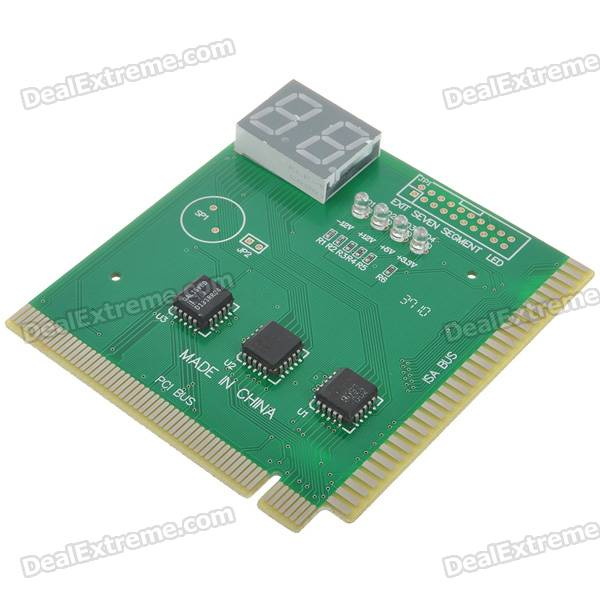 PC POST Diagnostic Test Card Motherboard Analyzer for PCI/ISA Slots 2 Digits