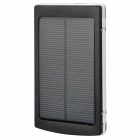 Universal Compact 10000mAh 2.1A Solar Energy-powered Rechargeable Power Bank + 10-in-1 Cable Set