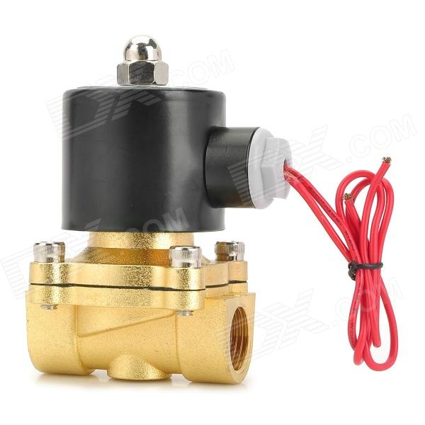 18W Copper + Plastic 1/2 Electric Actuator Solenoid Valve - Black + Golden (AC 220V) high tech and fashion electric product shell plastic mold