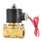 "18W Copper + Plastic 1/2"" Electric Actuator Solenoid Valve - Black + Golden (AC 220V)"