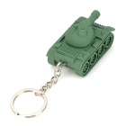 Mini Tank Style LED White Flashlight Keychain - Army Green (3 x AG10)