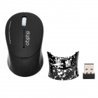 RF-6075 2.4GHz Wireless Optical 1000dpi Mouse - Black (1 x AAA)