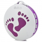 Cute Feet Style Portable USB Rechargeable Speaker w/ FM + TF Slot - Purple