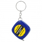 1m/3FT Mini 1 Meter Measuring Tape Keychain - Blue + Yellow