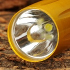 HHL-AA-01-HUANGSE LED 15lm White Flashlight w/ Clip - Golden (1 x AA)