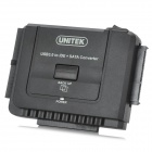 UNITEK Y-3321 USB3.0 to IDE +  SATA Hard Disk Drive HDD Docking Converter - Black
