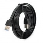 Super Speed USB 3.0 Male to USB 3.0 Female Flat Extension Data Cable - Black (200cm)
