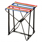 Portable Folding Nylon + Metal Stool for Fishing - Blue + Yellow + Red