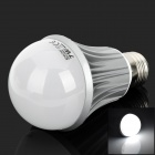 E27 7W 320lm 6500K 14-LED White Light Bulb - White + Silver (100~240V)
