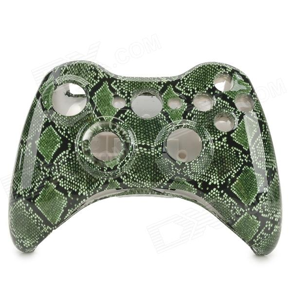 Replacement ABS Full Housing Case Shell for Xbox 360 Wireless Controller - Deep Green silver high quality full housing shell faceplate case part replacement for sony psp 2000