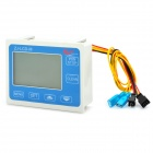 W14 High Precision Digital Water Flow Counter - Blue + White